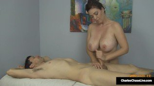 Cock Milking Cougar Charlee Chase Stuffs Her Muff With Client's Hard Dick!