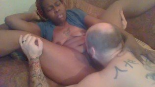Ebony Queen allows slave to eat her pussy