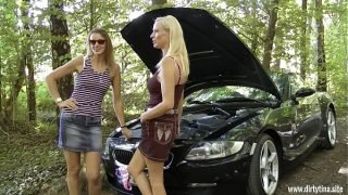 Two milf pussies want to be fucked outdoor